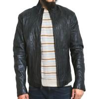 Laverapelle Men's Genuine Lambskin Leather Jacket (Black, Racer Jacket) - 1501520