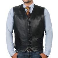 Laverapelle Men's Genuine Lambskin Leather Waist (Biker Vest) - 1503639