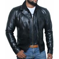 Laverapelle Men's Genuine Lambskin Leather Jacket (Officer Jacket) - 1501641