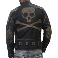 Laverapelle Men's Genuine Cow Ruboff Leather Jacket (Double Rider Jacket) - 1701008