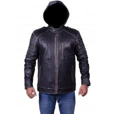 Laverapelle Men's Genuine Cow Ruboff Leather Jacket (fencing Jacket) - 1701009