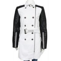Laverapelle Women's Genuine Lambskin Leather Coat (Trench Coat) - 1722032