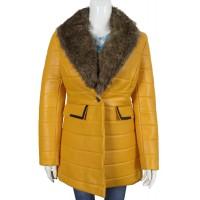 Laverapelle Women's Genuine Lambskin Leather Coat (Shearling Coat) - 1722040