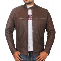 Laverapelle Men's Genuine Lambskin Leather Jacket (Racer Jacket) - 1701047