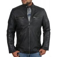 Laverapelle Men's Genuine Lambskin Leather Jacket (Racer Jacket) - 1801002