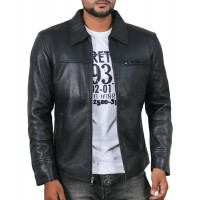 Laverapelle Men's Genuine Lambskin Leather Jacket (Aviator Jacket) - 1801004