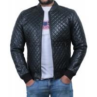 Laverapelle Men's Genuine Lambskin Leather Jacket (Quilted Jacket) - 1801006