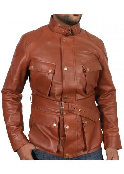 Laverapelle Men's Genuine Lambskin Leather Jacket (Field Jacket) - 1801007