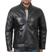 Laverapelle Men's Genuine Lambskin Leather Jacket (Racer Jacket) - 1801008
