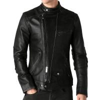 Laverapelle Men's Genuine Lambskin Leather Jacket (Racer Jacket) - 1801030
