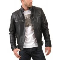 Laverapelle Men's Genuine Lambskin Leather Jacket (Fencing Jacket) - 1801041