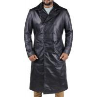 Laverapelle Men's Genuine Lambskin Leather Coat (Over Coat) - 1802002