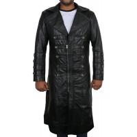 Laverapelle Men's Genuine Lambskin Leather Coat (Over Coat) - 1802003