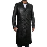 Laverapelle Men's Genuine Lambskin Leather Coat (Over Coat) - 1802008