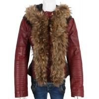 Laverapelle Women's Genuine Lambskin Leather Jacket (Hooded) - 1821008