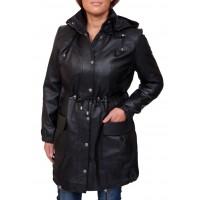 Laverapelle Women's Genuine Lambskin Leather Coat (Long Coat) - 1822005
