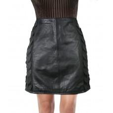 Laverapelle Women's Genuine Lambskin Leather Skirt () - 1825001