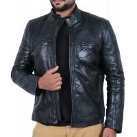 Laverapelle Men's Genuine Lambskin Leather Jacket (Patchwork) - 1901135