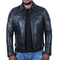 Laverapelle Men's Genuine Lambskin Leather Jacket (Patchwork) - 1901200