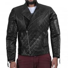 Laverapelle Men's Genuine Lambskin Leather Jacket (Patchwork) - 2001001