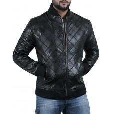 Laverapelle Men's Genuine Lambskin Leather Jacket (Patchwork) - 2001006