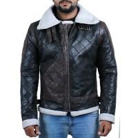 Laverapelle Men's Genuine Lambskin Leather Jacket (Black, Patchwork) - 2001022