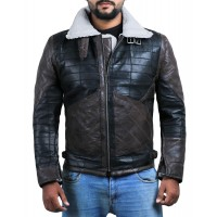 Laverapelle Men's Genuine Lambskin Leather Jacket (Black, Patchwork) - 2001024
