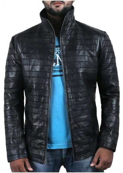 Laverapelle Men's Genuine Lambskin Leather Jacket (Patchwork) - 2001046