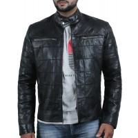 Laverapelle Men's Genuine Lambskin Leather Jacket (Patchwork) - 2001139