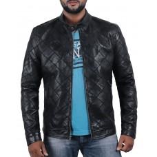 Laverapelle Men's Genuine Lambskin Leather Jacket (Patchwork) - 2001324