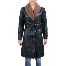 Laverapelle Women's Genuine Lambskin Leather Coat (Patchwork) - 2022035