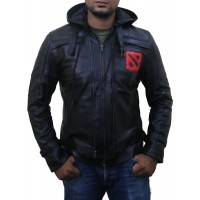 Laverapelle Men's Genuine Lambskin Leather Jacket (Hooded) - dota2
