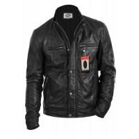 Laverapelle Men's Genuine Lambskin Leather Jacket (Fencing Jacket) - 1501101