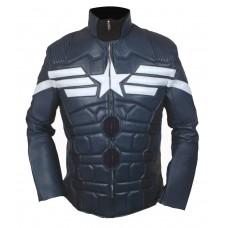 Laverapelle Men's Captain America 2014 Winter Motorbike Leather Jacket (Fencing Jacket) - 1501769