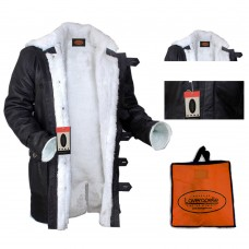 Laverapelle Men's Bane Genuine Distressed Leather Shearling Coat (Shearling Coat) - 1502848