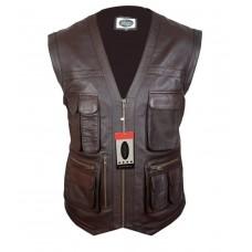 Laverapelle Men's Jurassic World Chris Pratt Owen Grady Genuine Leather Vest 1510849