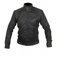 Laverapelle Men's Bourne Legacy Jeremy Renner Sheep Leather Jacket (Racer Jacket) - 1501798