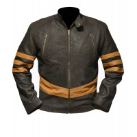 Laverapelle X-Men: Wolverine Logan Hugh Jackman Sheep Leather Jacket (Racer Jacket) - 1501799