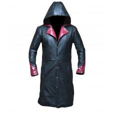 Laverapelle Men's Devil May Cry DMC 5 Dante Sheep Leather Coat (Long Coat) - 1502770