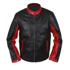 Laverapelle Men's BATMAN DARK KNIGHT Christian Bale Lambskin Leather Jacket  (Racer Jacket) - 1501777