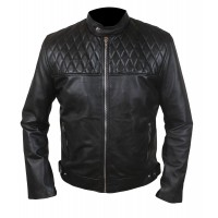 Laverapelle Men's Quilted Top Genuine Real Sheep Leather Fashion Jacket (Racer Jacket) - 1501788