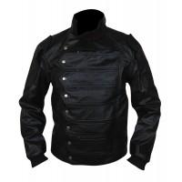 Laverapelle Men's Captain America Winter Soldier Cow Leather Jacket - 1510773
