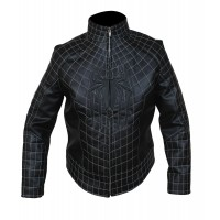 Laverapelle Men's The Amazing Spider Man 2 Faux Leather Costume Jacket in Black (Fencing Jacket) - 1501785