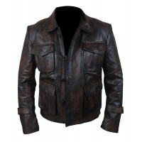 Laverapelle Men's Distressed Supernatural Season 7   Leather Jacket (Field Jacket) - 1501767