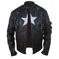 Laverapelle Men's Chris Evans Captain America Leather Jacket - 1510772