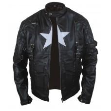 Laverapelle Men's Chris Evans Captain America Leather Jacket (Fencing Jacket) - 1501772
