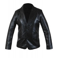 Laverapelle Men's 2 Button Stylish Blazer Cow Leather Coat - 1510793