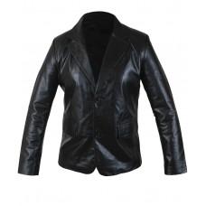 Laverapelle Men's 2 Button Stylish Blazer Cow Leather Coat (Officer Jacket) - 1501793