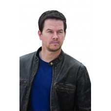 Laverapelle Men's Contraband Mark Wahlbergs Movie Cowhide Leather Jacket (Racer Jacket) - 1501797