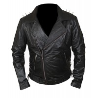 Laverapelle Men's Ghost Rider Motorcycle Cruise Real Cow Leather Jacket (Double Rider Jacket) - 1501778